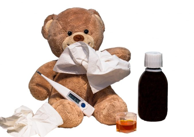 teddy bear with thermometer represents someone on medicare advantage using virtual health