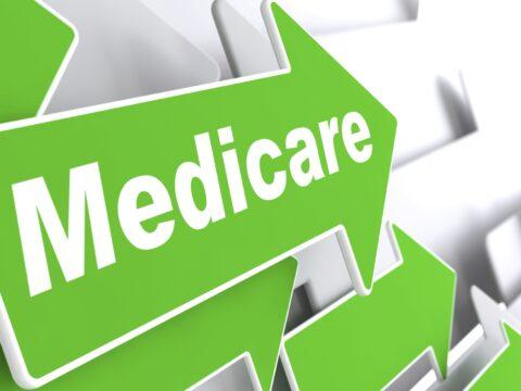 Medicare arrow points to 2021 medigap plans