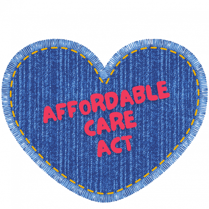 denim heart Affordable Care Act helps people afford health insurance